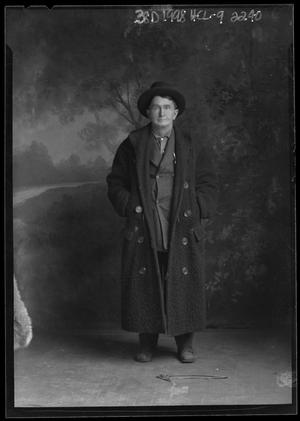 Primary view of object titled '[Portrait of Man Wearing Long Coat]'.
