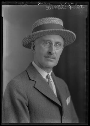 Primary view of object titled '[Portrait of Man in Hat and Glasses]'.