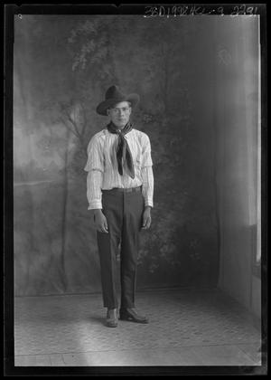 Primary view of object titled '[Portrait of Man in Cowboy Apparel]'.