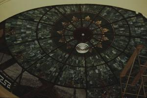 Primary view of object titled '[Colorado County Courthouse, (Stained Glass Courtroom Dome During Reconstruction)]'.