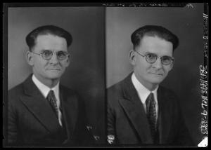 Primary view of object titled '[Two Portraits of Man Wearing Glasses]'.