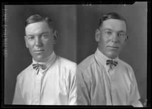 Primary view of object titled '[Two Portraits of Man Wearing Bow Tie]'.