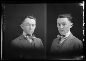 Primary view of object titled '[Two Portraits of Boy in Suit]'.