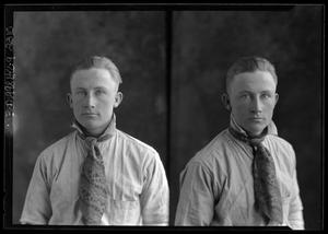 Primary view of object titled '[Two Portraits of Young Man]'.
