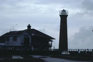 Primary view of object titled '[Arasnas Pass Light Station]'.