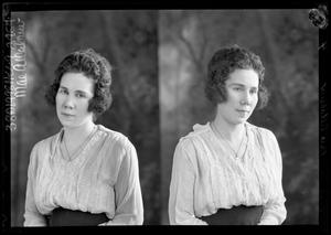 Primary view of object titled '[Portraits of Woman with Necklace]'.