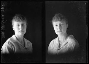 Primary view of object titled '[Portrait of Young Woman]'.