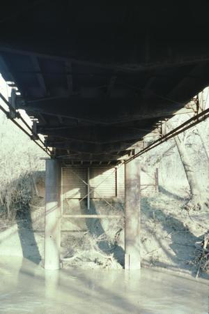 Primary view of object titled '[Old Alton Bridge, (east piers)]'.