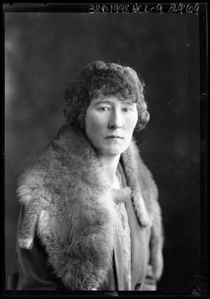 Primary view of object titled '[Portrait of Woman in Fur Stole]'.
