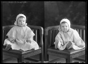 Primary view of object titled '[Portraits of Baby Wearing Bonnet]'.