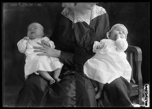 Primary view of object titled '[Portraits of Baby in Woman's Lap]'.