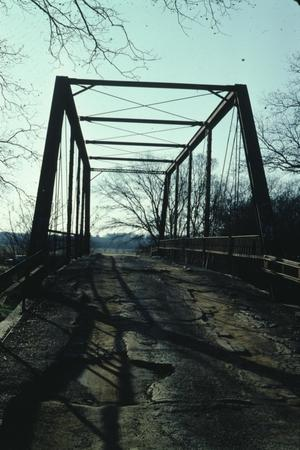 Primary view of object titled '[Old Alton Bridge, (East End)]'.