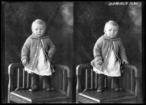 Primary view of object titled '[Infant in Sweater]'.