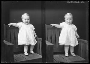 Primary view of object titled '[Baby in Knee-Length White Gown]'.