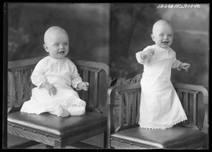 Primary view of object titled '[Child Posing on Chair]'.