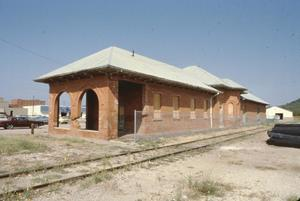 Primary view of object titled '[Santa Fe Depot, (Exterior)]'.
