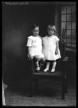 Primary view of object titled '[Portrait of Two Young Infants]'.