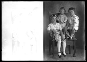 Primary view of object titled '[Portrait of Three Children]'.
