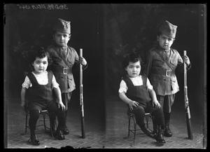 Primary view of object titled '[Portrait of Two Children]'.