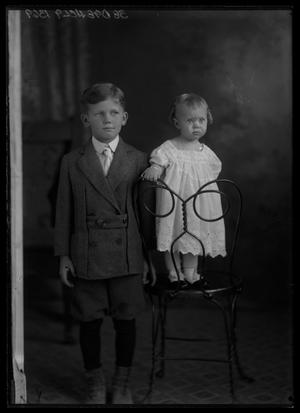 Primary view of object titled '[Portrait of Boy with Young Girl]'.