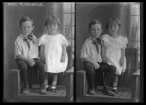 Primary view of object titled '[Portrait of Young Boy and Girl]'.