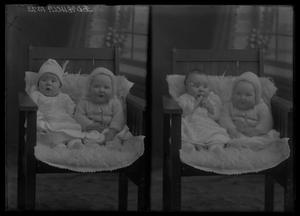 Primary view of object titled '[Portrait of Two Babies]'.