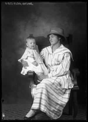 Primary view of object titled '[Portrait of Mother and Baby]'.