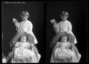 Primary view of object titled '[Portraits of Girl and Baby]'.