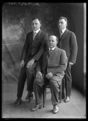 Primary view of object titled '[Portrait of Three Men]'.