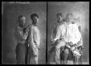 Primary view of object titled '[Portraits of Two Young Men]'.