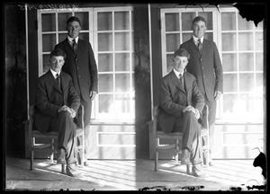 Primary view of object titled '[Portraits of Two Men]'.