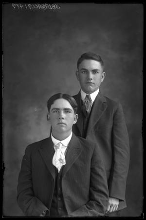 Primary view of object titled '[Portrait of Two Young Men]'.