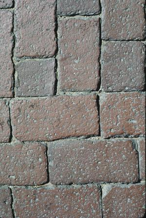 Primary view of object titled '[Brick Street, (detail)]'.