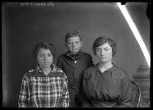 Primary view of object titled '[Portrait of Woman, Girl, and Boy]'.