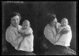Primary view of object titled '[Portraits of Woman and Baby]'.