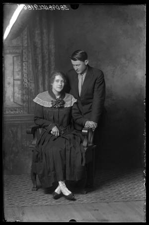 Primary view of object titled 'Portrait of Claude Young and Mabel Young Bernson'.