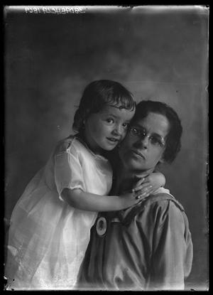Primary view of object titled '[Portrait of Woman and Child]'.