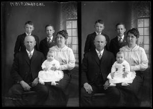 Primary view of object titled '[Portraits of Man, Woman, and Children]'.