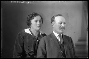 Primary view of object titled '[Portrait of Couple]'.