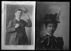 Primary view of object titled '[Portraits of Man and Woman]'.