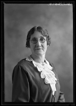 Primary view of object titled '[Portrait of Woman with Glasses]'.