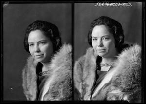 Primary view of object titled '[Portraits of Woman in Fur Coat]'.