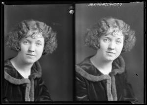 Primary view of object titled '[Portraits of Young Woman in Fur Coat]'.