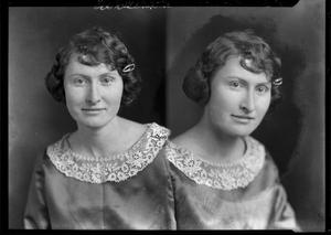Primary view of object titled '[Portraits of Woman with Hair Barrette]'.