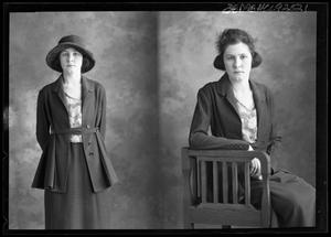 Primary view of object titled '[Portraits of Woman in Jacket]'.