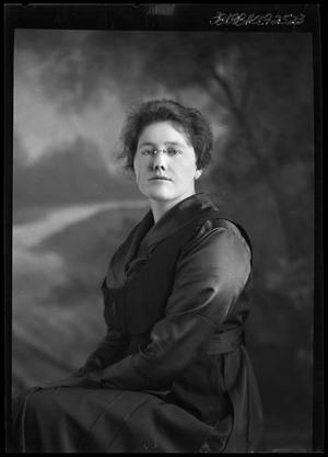 Primary view of object titled '[Portrait of Woman in Glasses]'.