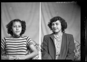 Primary view of object titled '[Portraits of Two Women]'.