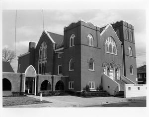Primary view of object titled '[422 S. Magnolia - First United Methodist Church]'.