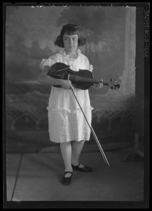 Primary view of object titled '[Portrait of Girl with Violin]'.