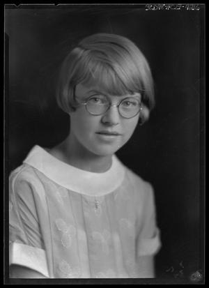 Primary view of object titled '[Portrait of Girl with Glasses]'.
